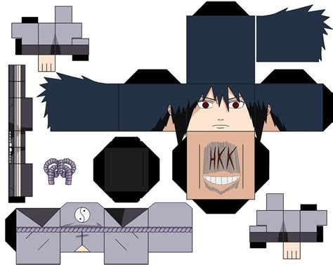 Sasuke Papercraft - what if sasuke sound 5 cloths by hollowkingking on deviantart