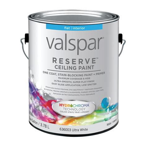 lowes paint shop valspar reserve ceiling white flat latex interior