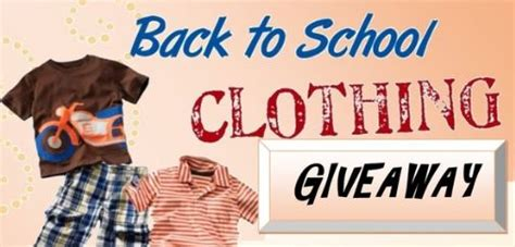 Clothes Giveaway Contest - back to school clothing giveaway in russell next month