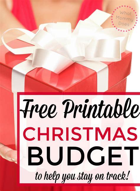 christmas budget worksheet  mommy