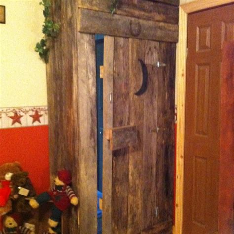 outhouse door to my bathroom bathroom