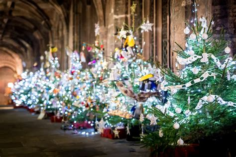 in coc xmas tree in 2016 tree festival 2016 chester cathedral