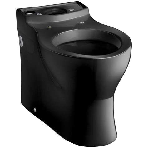 black toilet kohler persuade elongated toilet bowl only in black black