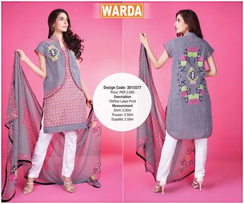 design dress lown 2015 summer eid wear dresses 2015 for women warda designer