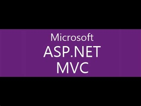 mvc tutorial asp net for beginners step by step asp net mvc tutorial for beginners youtube