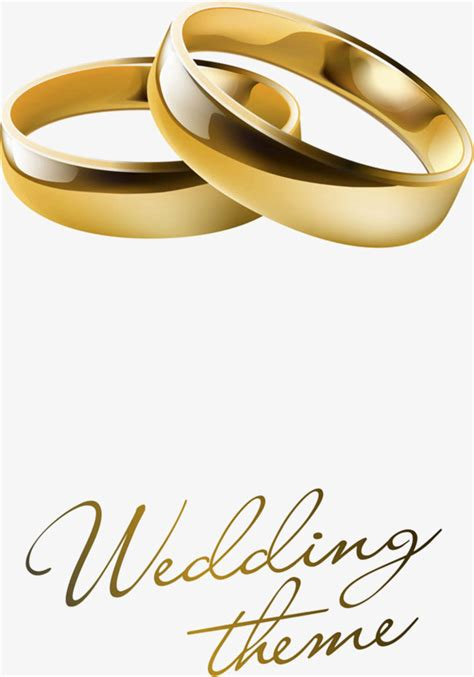 Wedding Rings Vector Free by Wedding Ring Vector Material Wedding Vector Golden Png