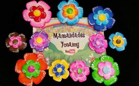 flores de foamy o goma eva planas o con termoformado fino flores hechas con tiras de foamy o goma eva youtube