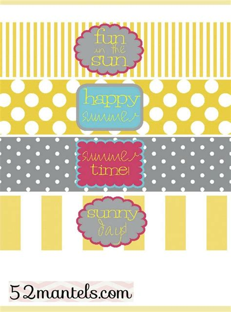 free printable water bottle label template free water bottle labels for a summer free