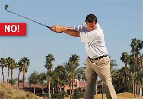 no wrist hinge golf swing the core 4 of great iron shots golf tips magazine