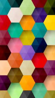 colorful patterns colorful hexagons pattern wallpaper free iphone wallpapers