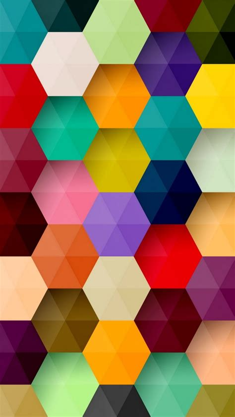 colorful pattern colorful hexagons pattern wallpaper free iphone wallpapers