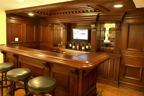 Residential Bars Custom Residential Bar Traditional Home Bar Newark