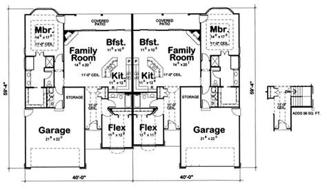 side by side house plans house plans side by side duplex house plans