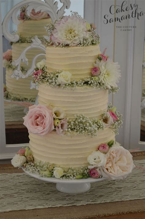 Wedding Cake Flower Tops by 1000 Ideas About Buttercream Wedding Cake On