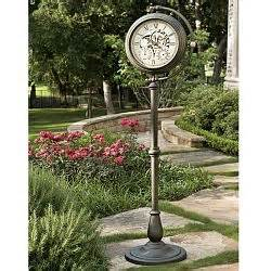 patio clocks outdoor wall clocks thermometers for the home home