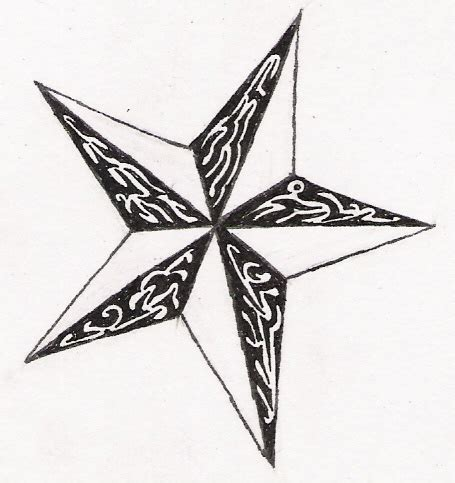 tribal nautical star tattoo designs tribal by apetheticalylost on deviantart