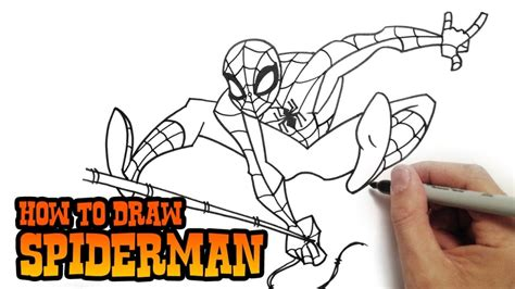 how to draw spiderman swinging how to draw spider man drawing pencil