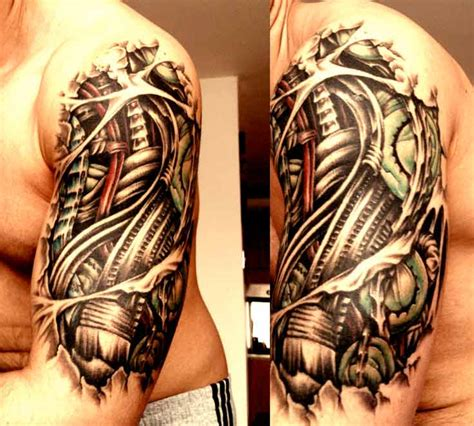 biomechanical half sleeve tattoo designs 70 amazing sleeves to your mind