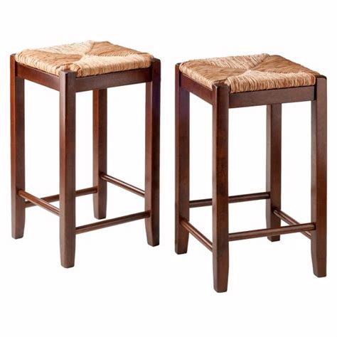 Seat Counter Stools 24 by Seat Counter Stools 24 Quot Set Of 2 Antique Walnut