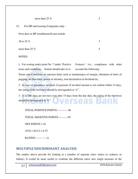 Business Loan Sanction Letter Format Pdf Indian Overseas Bank Sip Report Loans And Advances Management