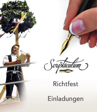 Muster Einladung Richtfest Scriptaculum