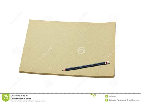 sketch book with pencil pencil and blank sketch book stock photos image 25048593