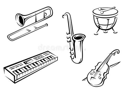 clipart strumenti musicali strumenti musicali impostati illustrazione vettoriale