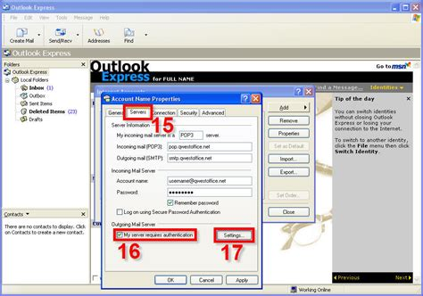 Office Qwest by Outlook Express Setup For New Qwestoffice Net Accounts