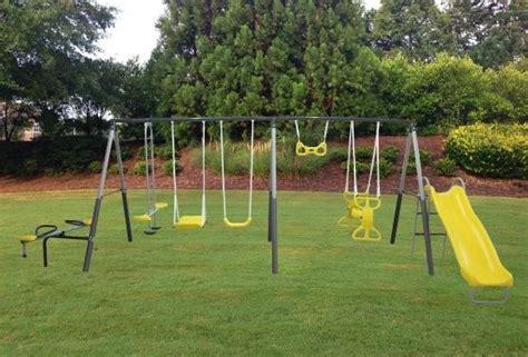 swing sets metal 25 best ideas about metal swing sets on pinterest