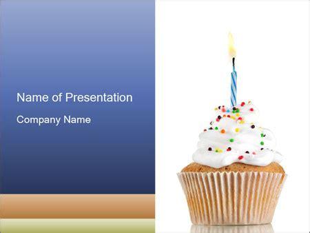Birthday Cupcake Powerpoint Template Backgrounds Id 0000032941 Smiletemplates Com Cupcake Powerpoint Template