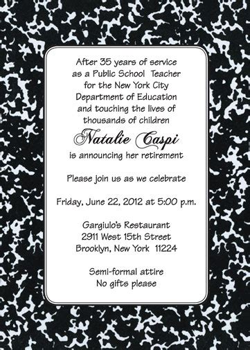 vintage chalkboard retirement party invitation card