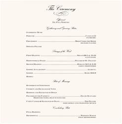 wedding reception program template wedding reception programs wording www pixshark