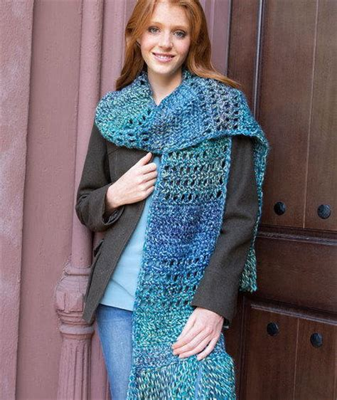 blue pattern scarf big blue crochet scarf allfreecrochet com