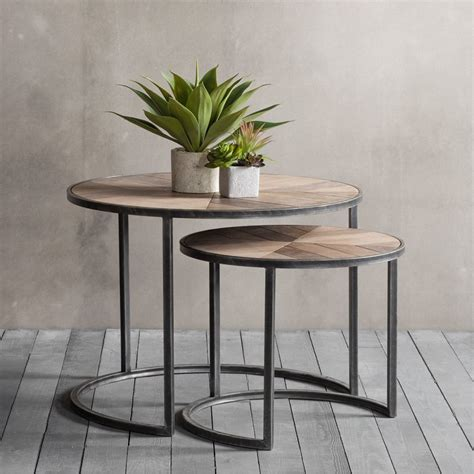 coffee table with side tables fulton set of 2 nesting coffee tables modern side tables