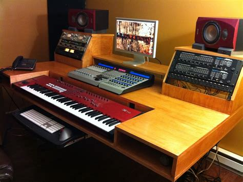 Studio Desk Diy Studio On Recording Studio Home Recording Studios And Home Studios