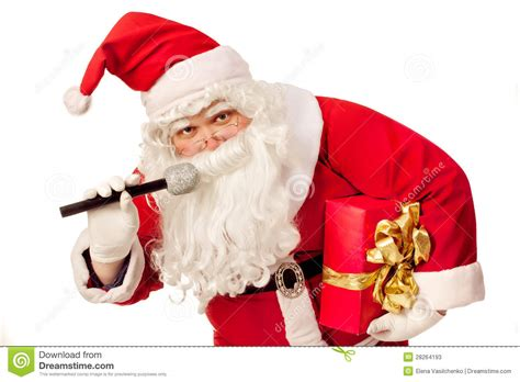 santa claus singing stock photos image 28264193