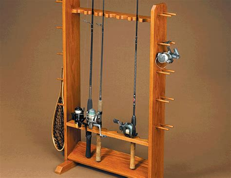pdf diy woodworking plans fishing pole rack