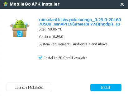 why apk not installed pok 233 mon go apk and install pok 233 mon go apk to android phone