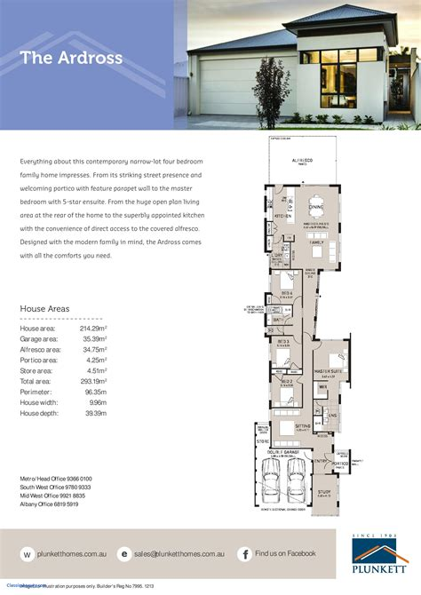 shallow house plans narrow house plans beautiful breathtaking single story