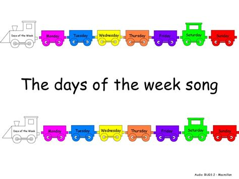 images for week days of the week