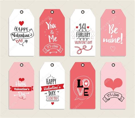 Valentine Gifts Cards - valentines day gift cards labels and stickers template for greeting scrapbooking