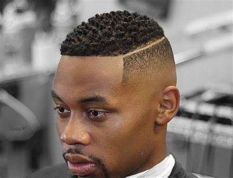 black men hair cuts with front part lining 50 stylish fade haircuts for black men