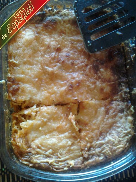que cocinar hoy facil receta torta espagueti de mi mama