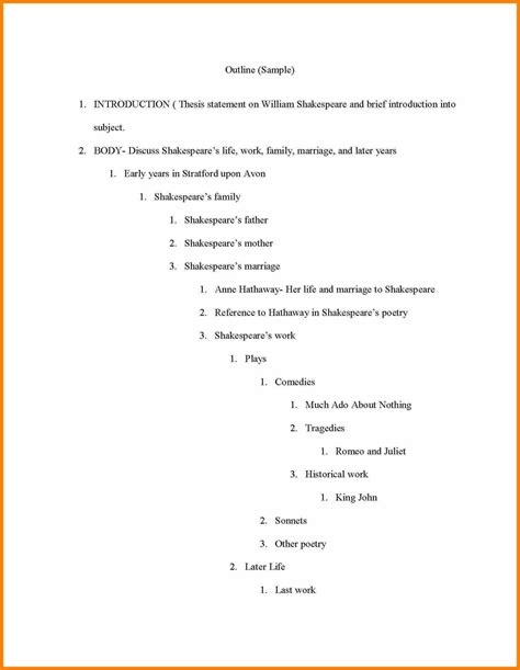 5 apa outline template resume pictures