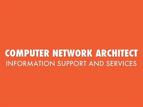 Computer Network Architect by Computer Network Architect By Yepez