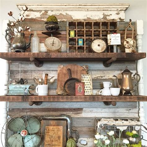 vintage kitchen decor booth crush antique booth shelving