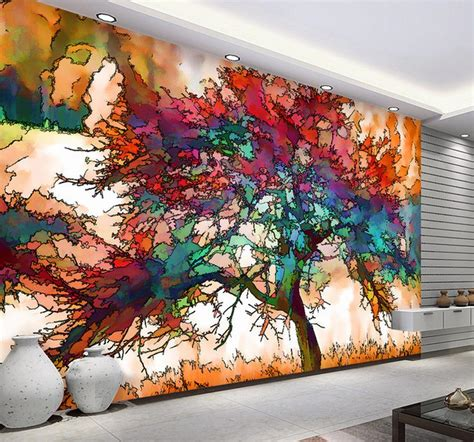 wallpaper abstract murals 3d murals wallpaper for living room abstract tree image