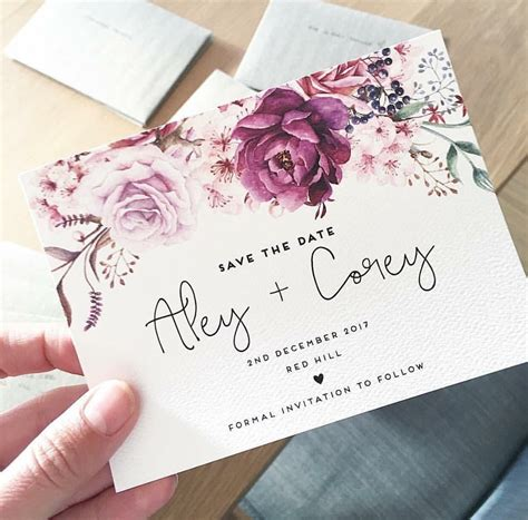 Wedding Card Design Flowers by Wedding Save The Date Card The Design Ink Hearts