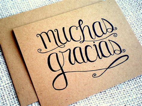 imagenes de gracias vintage muchas gracias kraft thank you cards set of 10 hand lettered