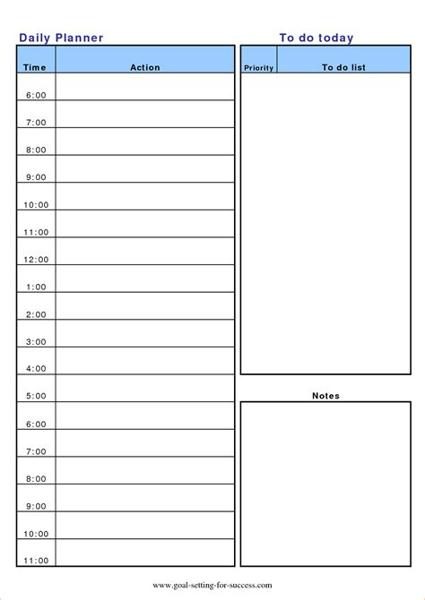 13 Daily Planner Template Memo Formats Planner Template Free
